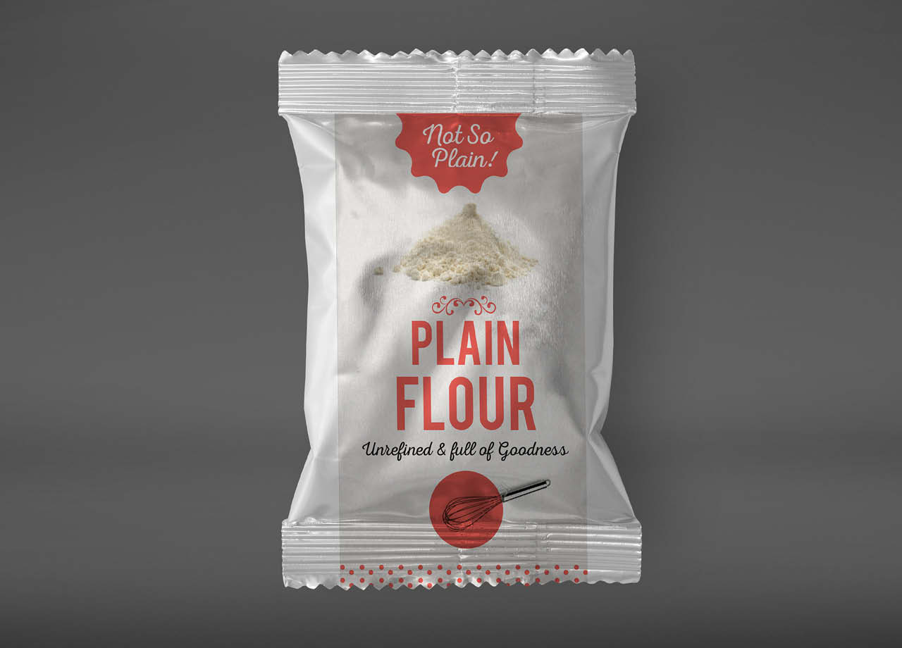 Nelstrops Not So Plain Flour Packaging