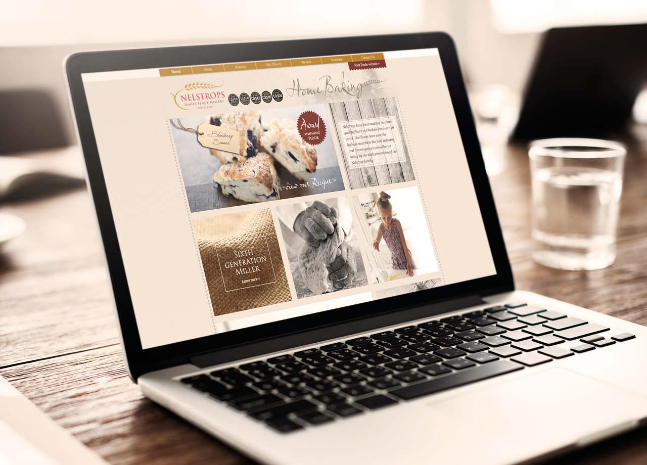 Nelstrops Website Desktop