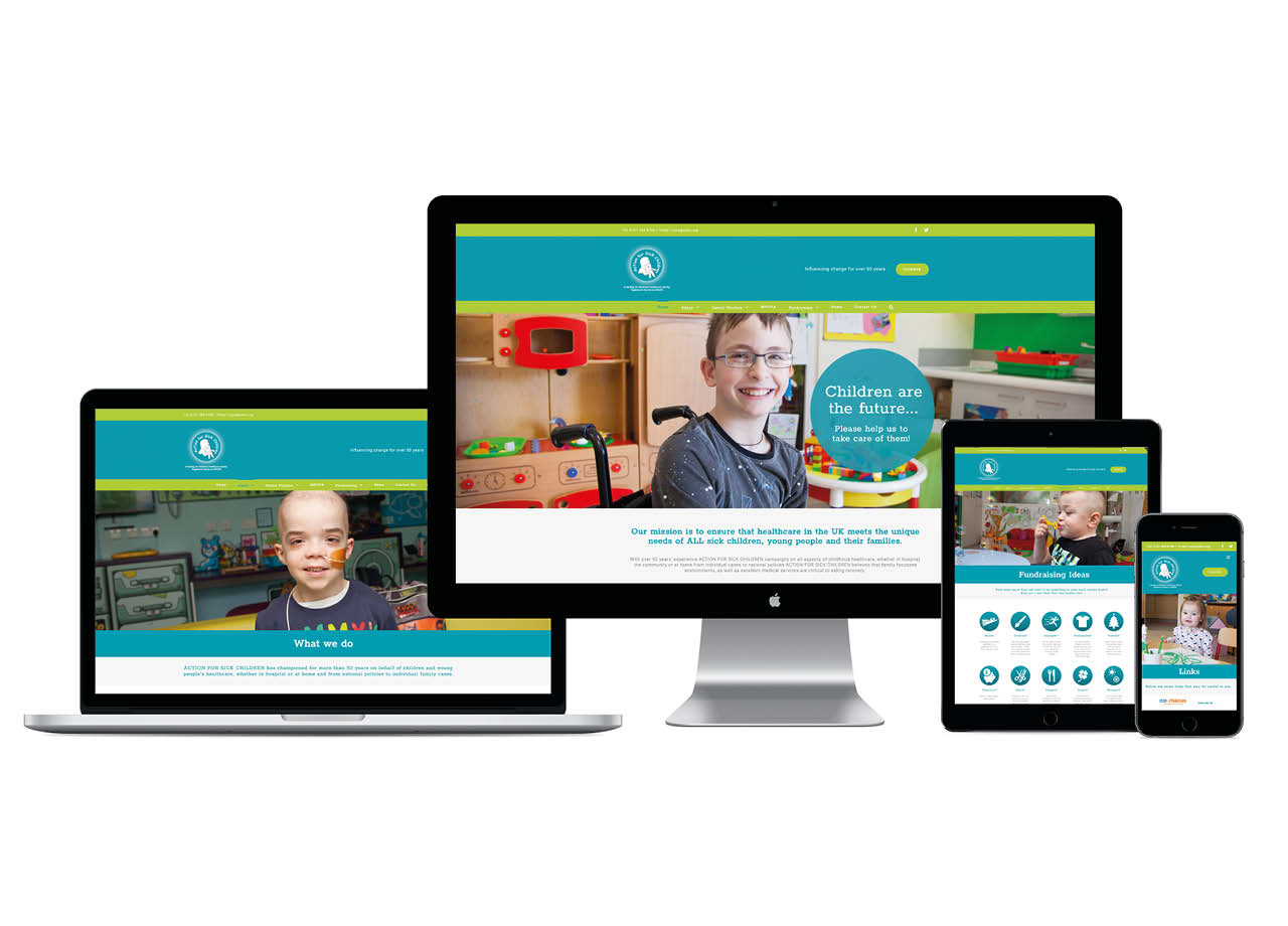 Action for Sick Children Website