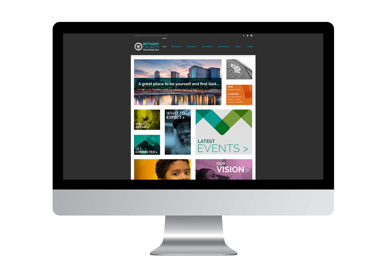 Bethany Church Website Desktop