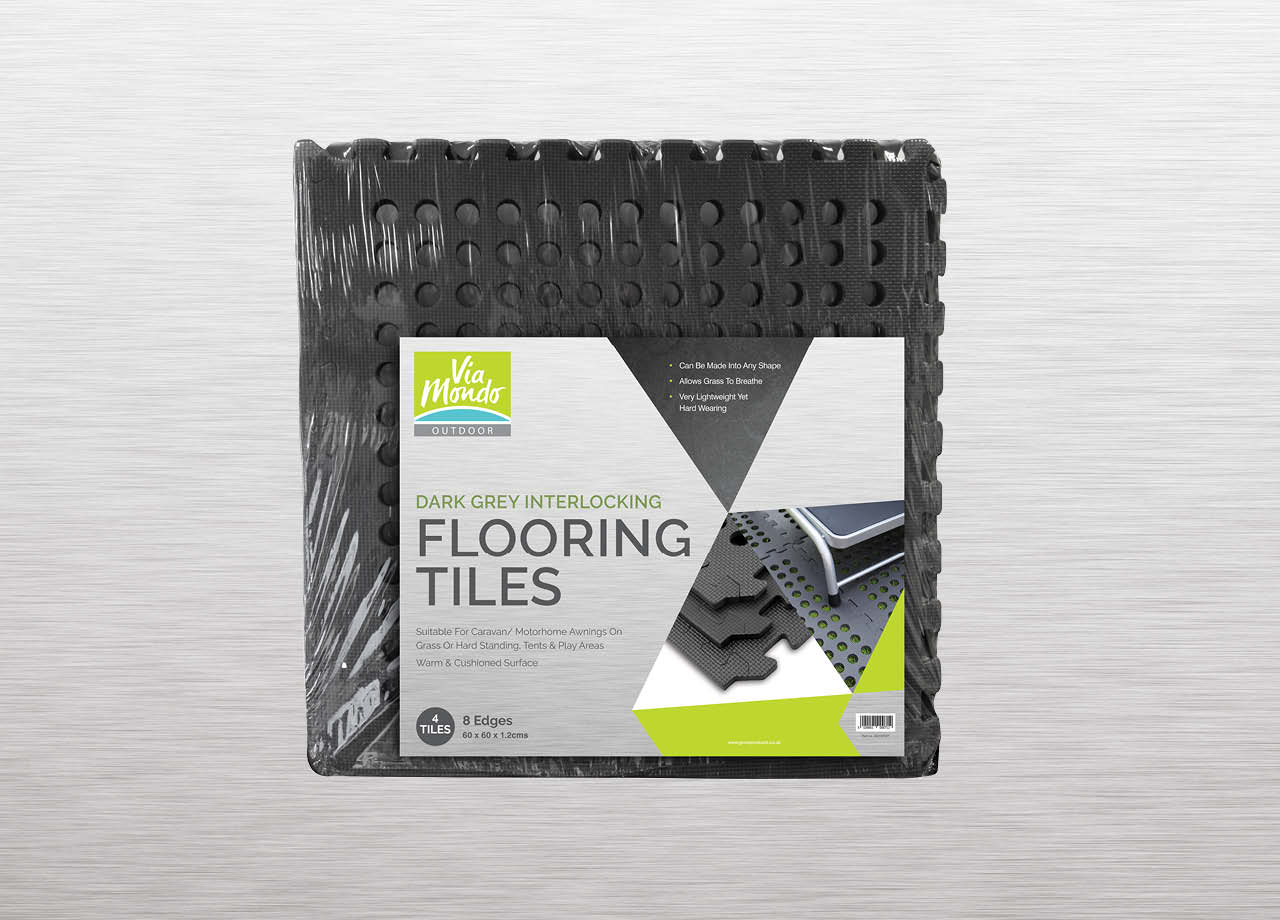 Grove Products Via Mondo Floor Tiles Packaing