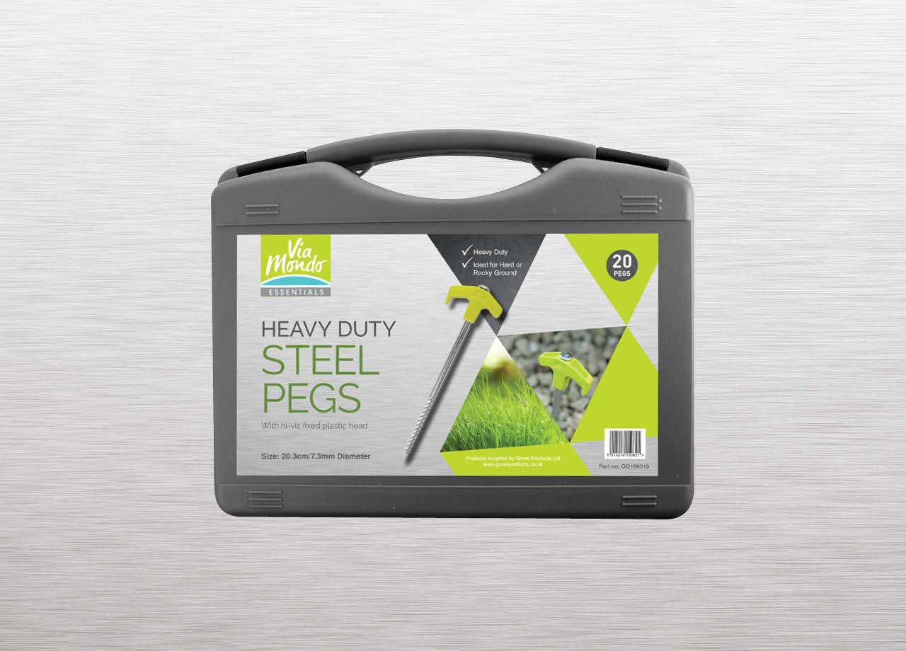 Grove Products Via Mondo Heavy Duty Steel Pegs Packaging
