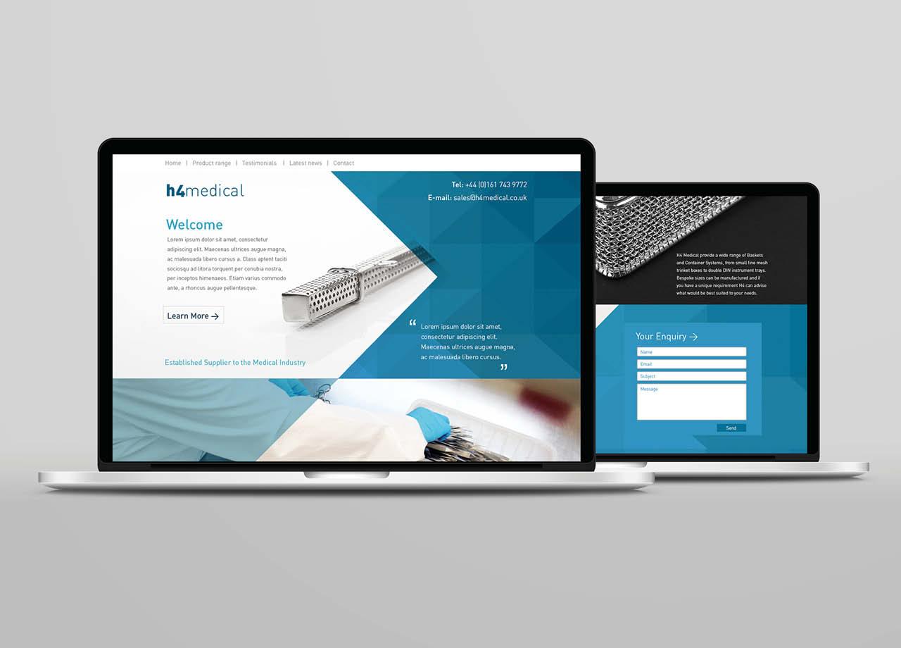 H4 Medical Website Desktop