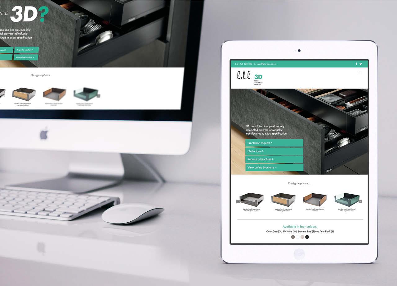 LDL 3D Website iPad Desktop