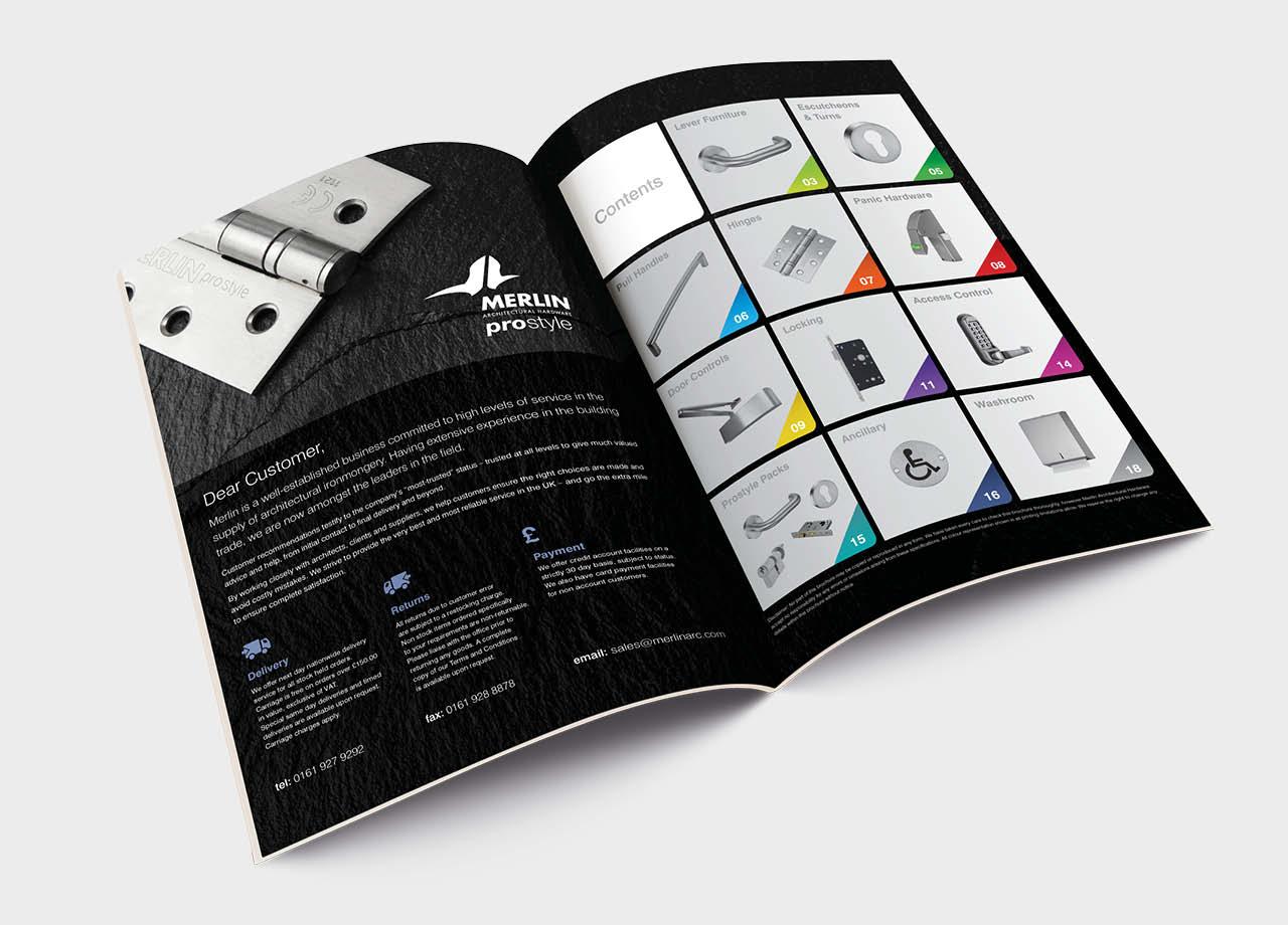 Merlin Catalogue Contents Spread