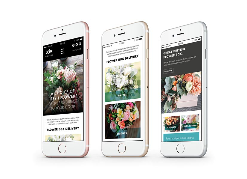 ixia-flowers-website