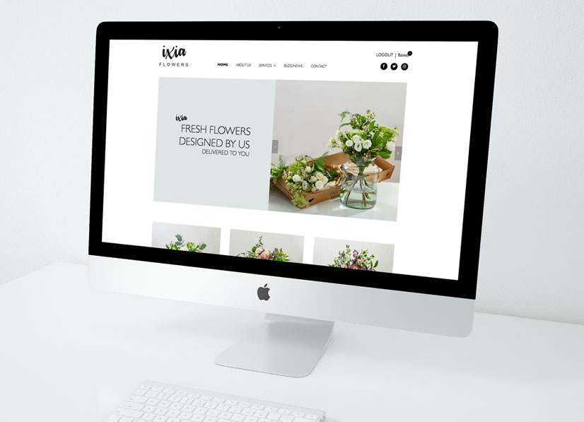 ixia-flowers-website-design